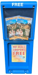 Paper Net Magazine racks placed around Ocala so consumers can find savings anywhere