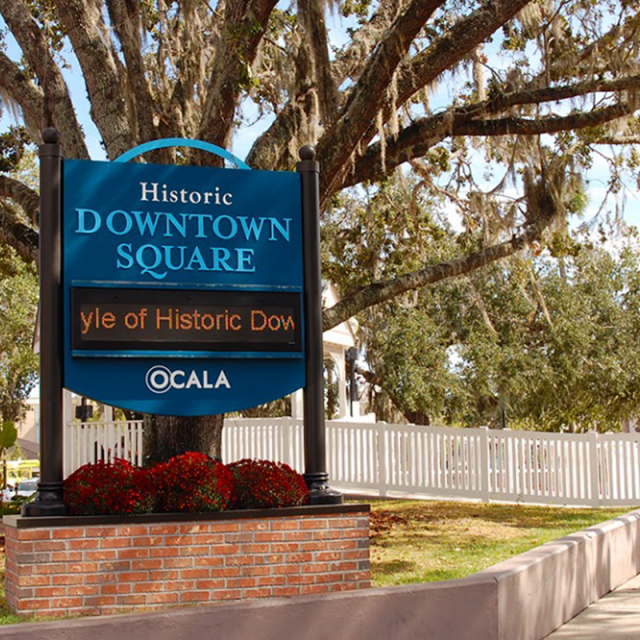 Historic Downtown Square in Ocala where many local events and businesses are located